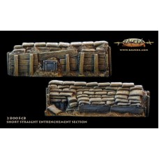 28mm Sandbag entrenchment 8.5cm straight 1/48