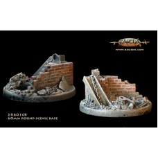 Industrial theme 60mm round scenic base 1/48