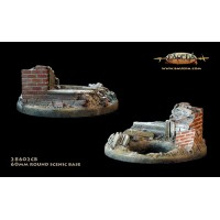 Urban theme 60mm round scenic base 1/48