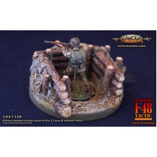 Forest trench theme 60mm round scenic base 1/48