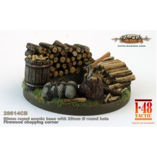 Rural theme 60mm round scenic base 1/48