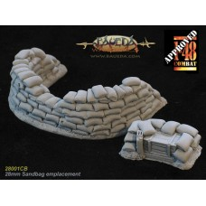 28mm Sandbag MG emplacement 1/48