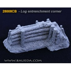 28mm Log entrenchment corner 1/48