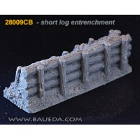 28mm Log entrenchment 8.5cm straight 1/48