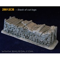 28mm Stack of cut logs 1/48