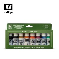 Vallejo Model Color Set 136: Transparent Colors (8 colors)