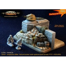15mm Objective Vf58c Tobruk bunker emplacement (with optional tank turrets FT17 + R35 APX)
