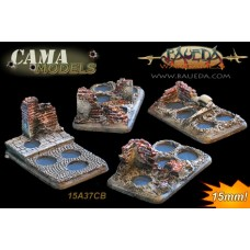 Four different 4 holes Infantry scenic bases (urban)