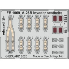 A-26B Invader seatbelts STEEL photo-etched 1/48