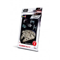 Star Wars Level 2 Easy-Click Snap Model Kit Series 1 Millenium Falcon