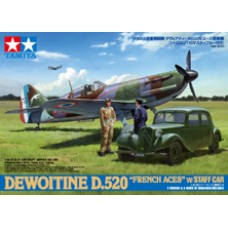 Dewoitine D.520 w/Staff Car 1/48