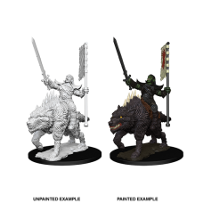 Pathfinder Battles Deep Cuts: Orc on Dire Wolf