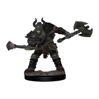 Pathfinder Battles: Half-Orc Barbarian Male