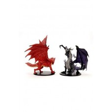 Pathfinder Battles City of Lost Omens pre-painted Premium Miniatures 2-Pack Adult Red & Black Dragon