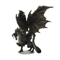 D&D Icons of the Realms: Adult Black Dragon Premium Set